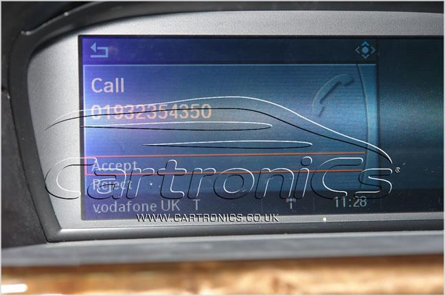 BMW incoming call