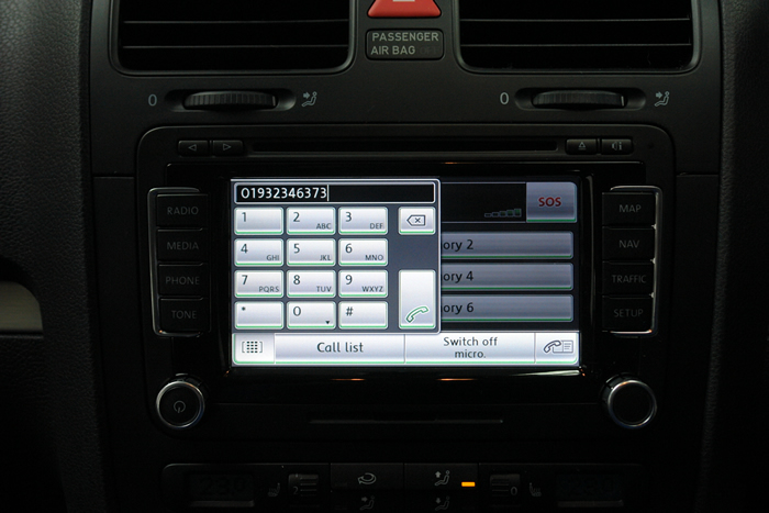 VW dialling with mObridge Bluetooth