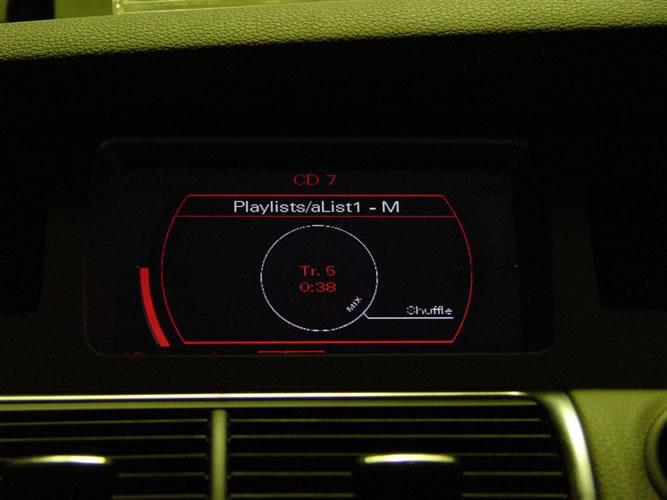 Audi shuffle play control