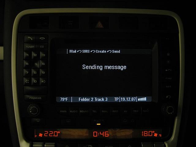 Porsche PCM sending SMS